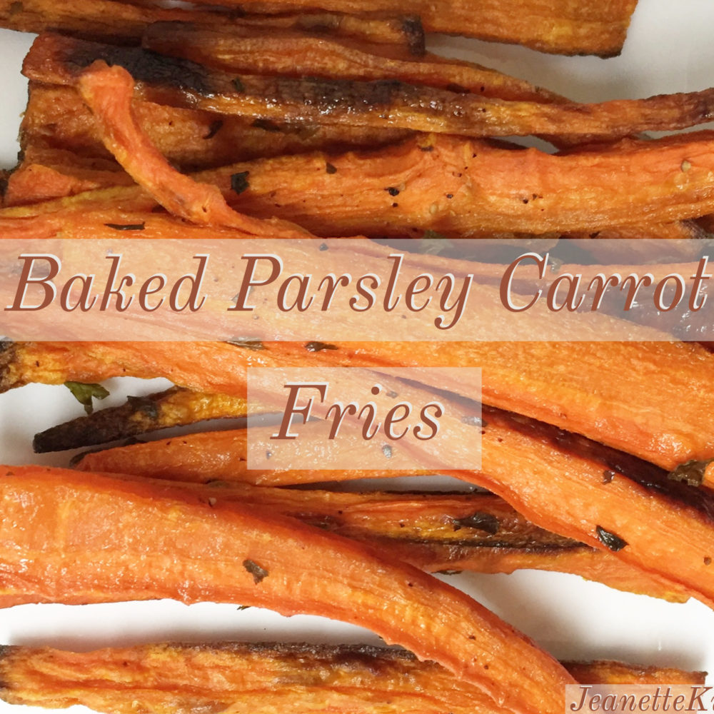 Baked Carrot Parsley Fries