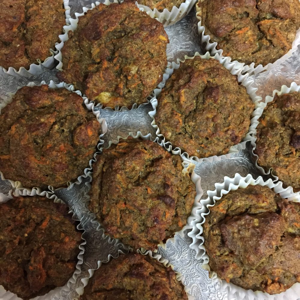 Banana & Carrot Protein Muffins