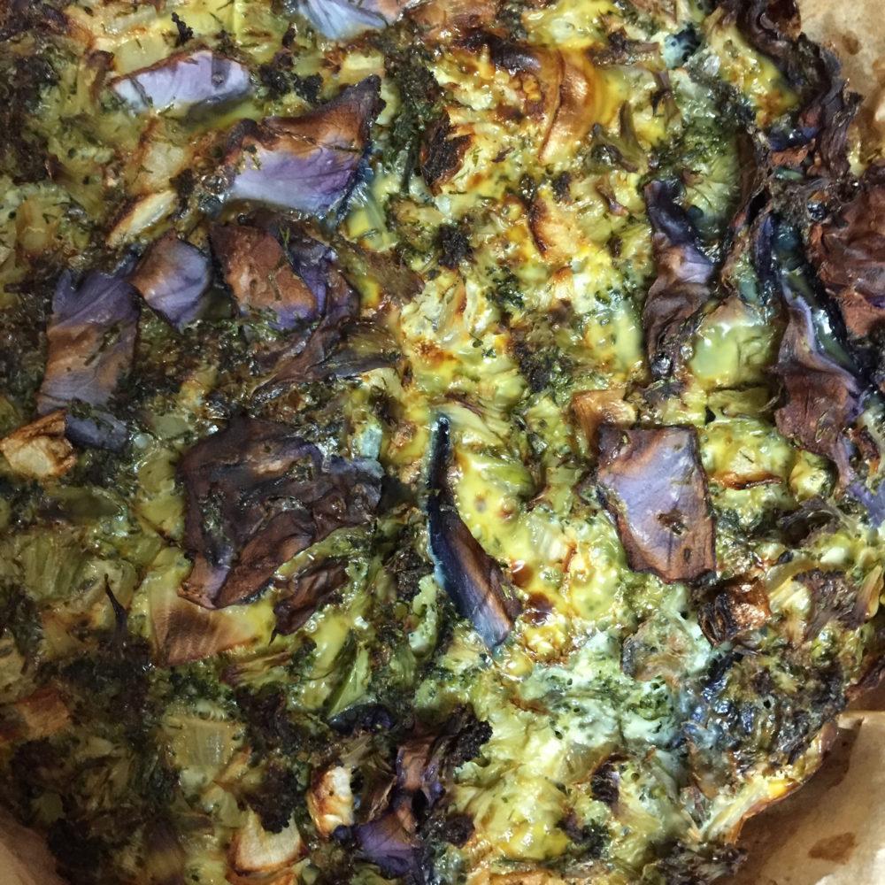 Dill, Cabbage, and Broccoli Quiche