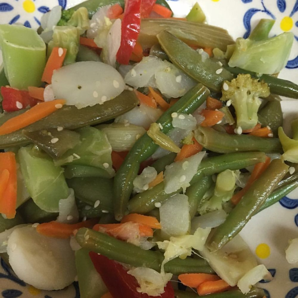 Lemon Ginger Garlic and Honey with Sesame Vegetable Stir Fry
