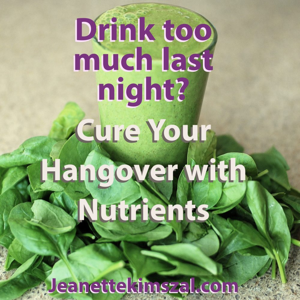 Cure Your Hangover with Nutrients