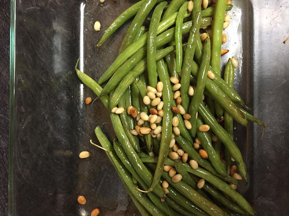 Roasted Green Beans with Pine Nuts