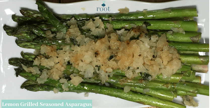 Lemon Grilled Seasoned Asparagus | Root Nutrition Education