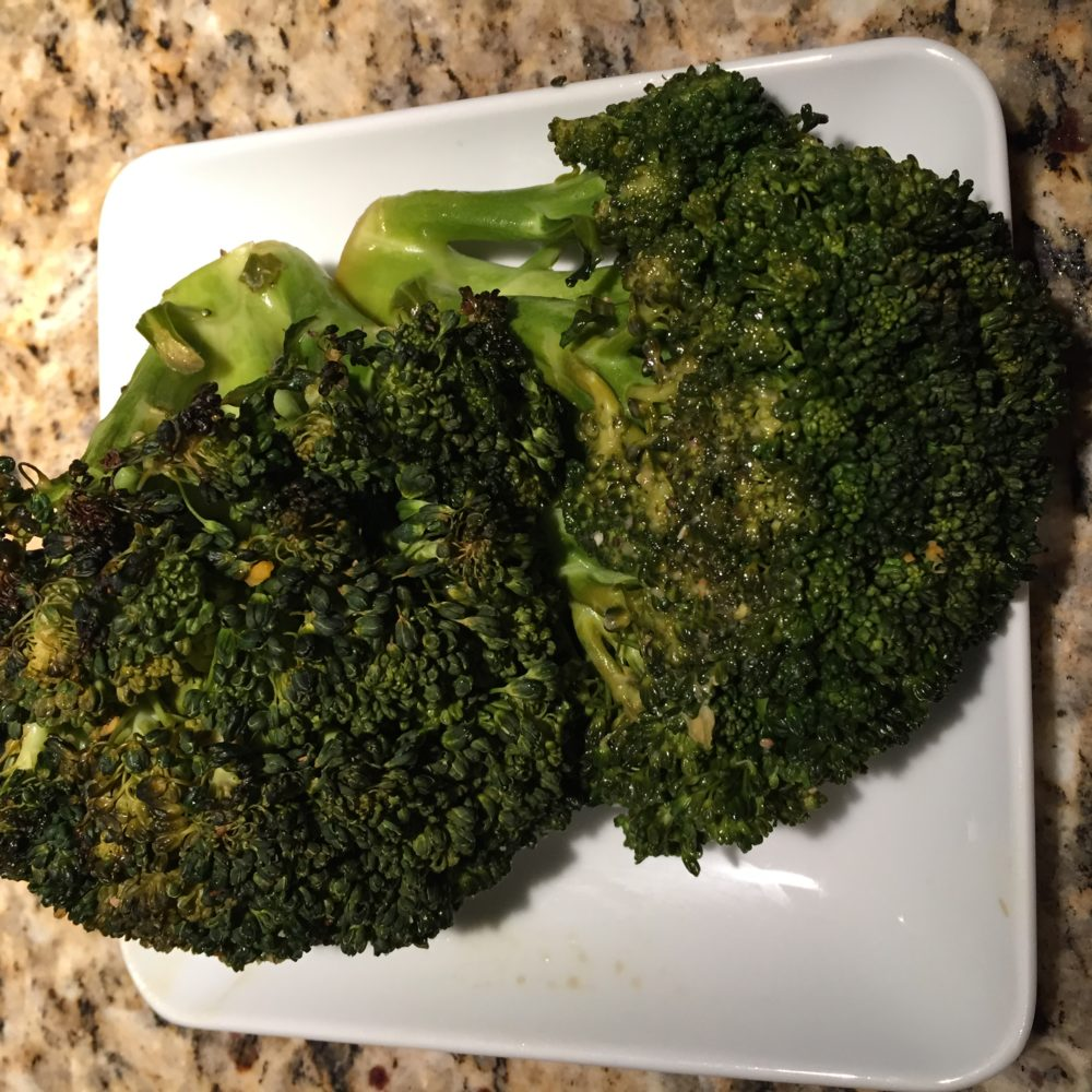 Seasoned Garlic Cinnamon Broccoli