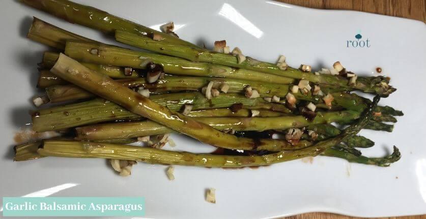 Garlic Balsamic Asparagus | Root Nutrition & Education
