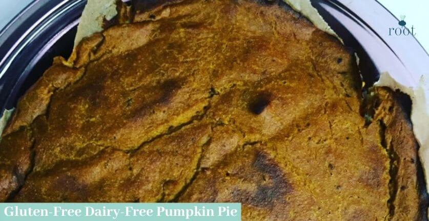 Gluten Free, Dairy Free Pumpkin Pie with Cashew Cream In Pie Plate | Root Nutrition & Education