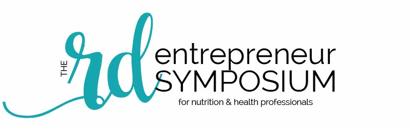 A picture of words that says The RD Entrepreneur Symposium for Nutrition & Health Professionals | Root Nutrition Education & Counseling