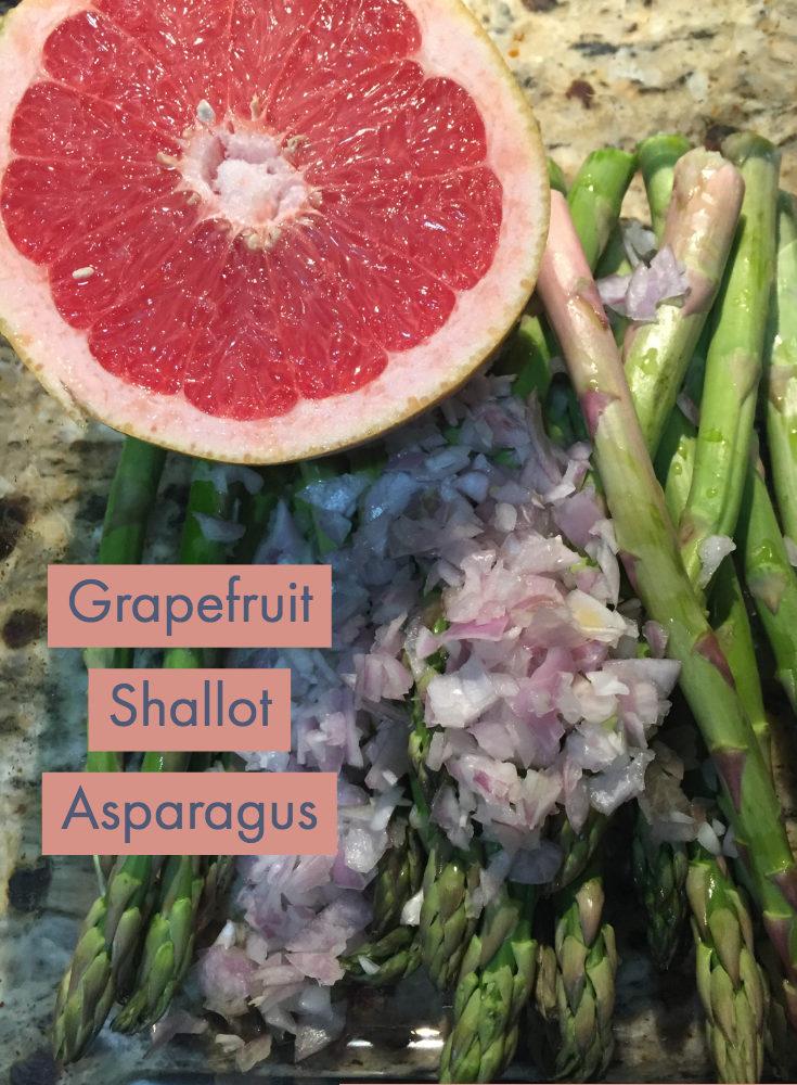 Grapefruit Shallot Asparagus