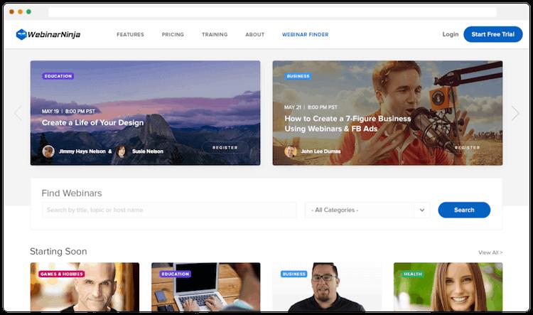 Webinar Ninja Webinar Finder | Root Nutrition