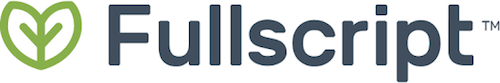 Green leaf and fullscript logo | Root Nutrition & Education